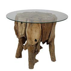 Příruční stolek z teakového dřeva HSM Collection Paca