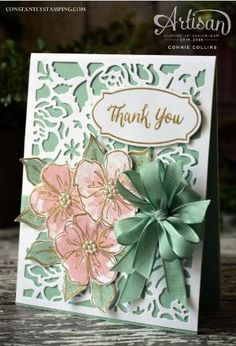 Detailed Floral Thinlits with Penned & Painted Stamp Set by Stampin' Up… by ivy