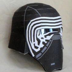 Star Wars Papercraft: Kylo Ren Helmet | Tektonten Papercraft