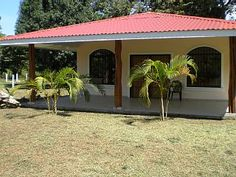 Large+New+Home+Near+Beaches+And+Parks+-+Small+Town+-+Low+Price+++Vacation Rental in Guanacaste from Village House Design, Bungalow House Design, Village Houses, Simple House Design, Spanish Style Homes, Mediterranean Home Decor, Small House Plans, Exterior Colors, Design Case