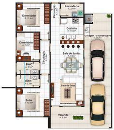 plantas de casas terreas de 70 m2 - Pesquisa Google