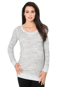 cd9089aff3 Splendid Long Sleeve Scoop Neck Raglan Sleeve Maternity Pull Over. Throw in  a statement necklace