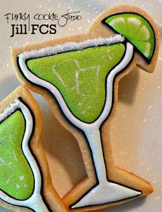 Margarita cookies! Sugar sprinkles as the salt! Genius!