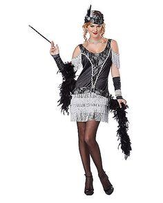 Razzle Dazzle Flapper Womens Costume - dress, headband, gloves