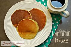 These Lentil Flour  Pancakes might just be the yummiest gluten free pancakes you ever eat!  My little Bro and I devoured them.  Everytime...