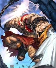 kratos by chuck-piresART on @DeviantArt