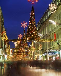 Christmas on Dublin's Henry Street. I loved every minute traveling to Ireland in December!
