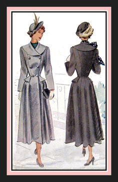 Vintage 1948Adapation of DIORS NEW by FarfallaDesignStudio on Etsy, $149.00
