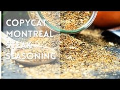 This Copycat Montreal Seasoning recipe is made with most items already in your spice cabinet. Montreal Seasoning Recipe, Great Steak, Meat Rubs, Spices And Herbs, Grilled Meat, Copycat, Food Videos, Cooking, Dressings