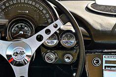 """""""1962 Corvette Convertible Cockpit"""" Card: $6.44. #corvette #photography #vintagecars #chevy #cars"""