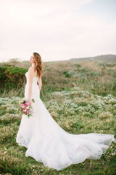Beautiful Brand Wedding Dresses  : Romantic long train wedding dress: Photography: This Love of Yours  thisloveofy