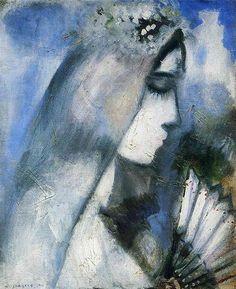 """Chagall, Pintor De Sonhos... """"Noiva Com Um Leque"""", 1911."""
