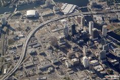 Another great Pictometry oblique: Downtown Tampa, Florida.