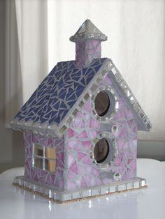 Glass mosaic - bird houses (Agnes Balint)