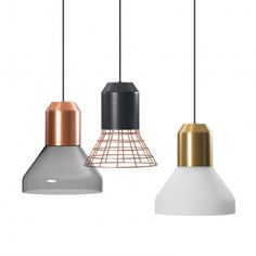 BELL LIGHTS by Sebastian Herkner for ClassiCon - New 2016 with glass shades in grey and white -  light licht Hängelampe Lampe