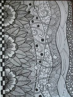 My zen doodle art making 3 journals atm for my kids :)                                                                                                                                                                                 More