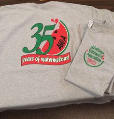 Screen Print - 4 Color Full Back & 2 Color Left Chest - Alabama Watermelon Association