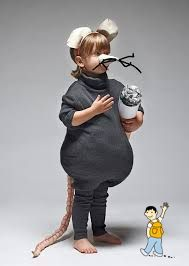 Disfraz rata, ratón, ratoncito, roedor para niño