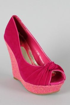 Knotted Open Toe Wedge $25.90