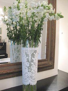 vaas met kanten plakfolie