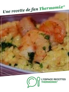Risotto crevettes-curry WW Shrimp-curry WW risotto by littlemary. A fan recipe to find in the Main d Shrimp Risotto, Curry Shrimp, Shrimp Salad Recipes, Risotto Recipes, Thermomix Desserts, Entrees, Main Dishes, Food And Drink, Risotto