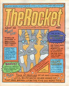 The Rocket, August 1985.   Illustration: Matt Groening, art directors: Rick Jost, Kate Thompson, Robert Newman