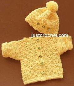 Looking for your next project? You're going to love FJC18-Cardi + Hat baby crochet pattern by designer justcrochet.
