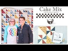 Cake Mix Recipe #1: Triangle Paper for Layer Cakes by Miss Rosie's Quilt Co. of Moda Fabrics: - YouTube