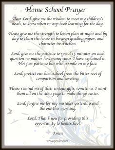 HomeSchool Prayer
