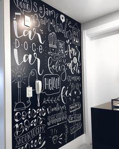 Blackboard Wall, Chalkboard Art, Chalk Lettering, Lettering Tutorial, Home Room Design, Inspiration Wall, Blackboards, Coffee Art, Wall Art Designs