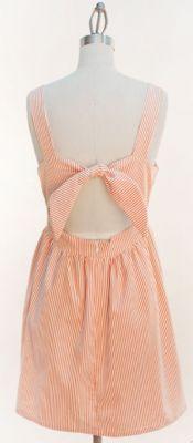 orange and white seersucker dress....I have finally found you!