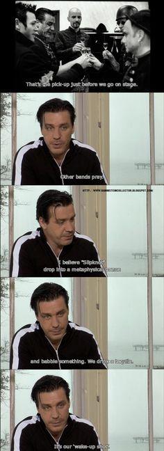 Rammstein - TILL LINDEMANN - Funny!