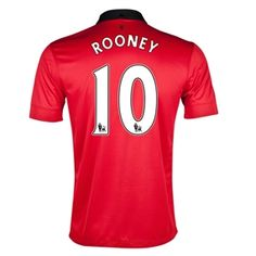 Wayne Rooney gets as much press for his off field life as he does his on field. But he is still one of the top players in the world. Get your Nike Manchester United home soccer jersey, and display it with your favorite players name today! www.soccercorner.com