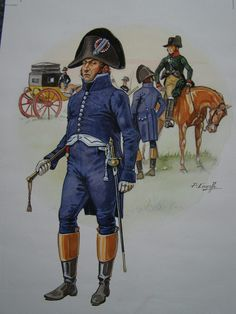 French; Paymaster of the Grand Armee,c.1810 by P.Courcelle