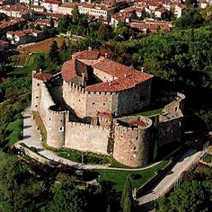 Gorizia Castle, Italy. The castle was built by the Venetians in the late 15th century over a pre-existing fortress known from 1176. It was enlarged under the Austrian domination (16th-17th centuries), later being turned into a jail. Among the people imprisoned here was Federico Confalonieri.