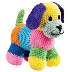 Cute puppy toy soft crochet animal makes an amazing gift for any expecting mother or young child. Crochet Animal Patterns, Stuffed Animal Patterns, Crochet Animals, Toy Puppies, Cute Puppies, Crochet For Kids, Crochet Baby, Minecraft Crochet, Nursery Patterns