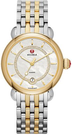 634cb04c68b MWW03T000064 NEW MICHELE CSX ELEGANCE LADIES QUARTZ WATCH IN STOCK - Click  to View our Doorbuster