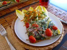 Freekeh Frittata and Jicama Carrot Salad