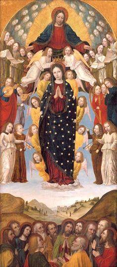 Bergognone (Ambrogio di Stefano da Fossano, Italian, Milan ca. 1453–1523 Milan):  The Assumption of the Virgin  (Metropolitan Museum of Art)