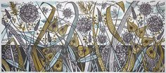 Angie Lewin - Late Summer Spey - linocut print