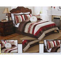 Baroque 6pc Queen Bedding Set