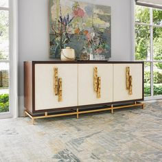 Shop the Origami Multi Use Cabinet by Ambella Home Collection at Furnitureland South, the World's Largest Furniture Store and North Carolina's Premiere Furniture Showroom. Painting Wooden Furniture, Fine Furniture, Rustic Furniture, Luxury Furniture, Living Room Furniture, Modern Furniture, Furniture Design, Antique Furniture, Furniture Plans
