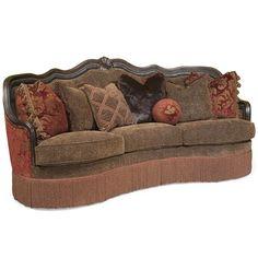 Gigi Traditional Sofa with Decorative Camel Back and Fringe Skirt by Rachlin Classics - Olinde's Furniture - Sofa Baton Rouge and Lafayette, Louisiana