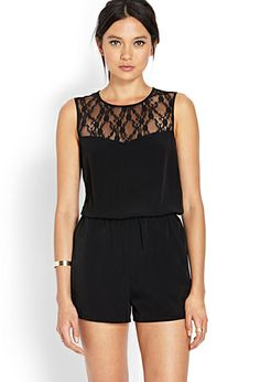 Romantic Lace-Trimmed Romper | FOREVER21