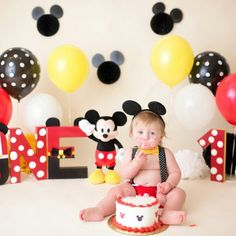 Mickey Mouse Birthday letters for a photo shoot