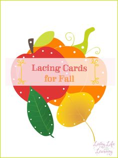 Practice fine motor skills with fall themed lacing cards