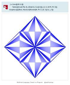 j=Line@#&/@ Table[{{Cos[t Pi],0},{Sin[6 t],Cos[6 t]}},{t,0,60 Pi,Pi/2}];  Graphics@{Blue,NestList[Rotate[#,Pi/2,{0,1}]&,j,3]}