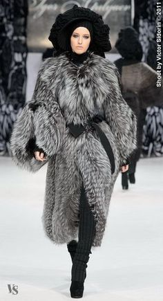 Fur -- Looks like what I would wear in a far northern country.  Love it!
