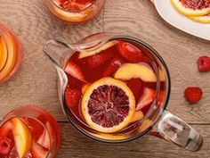 A summer BBQ isn't complete without a fruitful pitcher of Sangria made with Simply Fruit Punch.