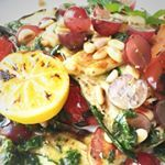 Warmer weather is coming  so it is time to bust out the grill and get some tasty salad action on Get this Halloumi Salad recipe and more by following the link in our bio